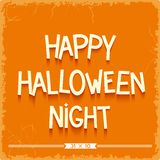 Happy Halloween Night poster Stock Photography