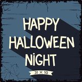Happy Halloween Night poster Stock Photos
