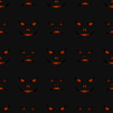 Happy halloween night seamless background pattern. Vector illust Stock Image