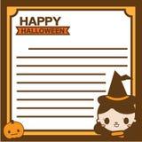 Happy halloween Note Royalty Free Stock Photo