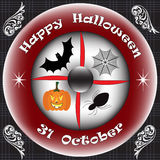 Happy halloween on 31 october Royalty Free Stock Photo