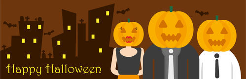 Happy halloween in office Royalty Free Stock Photos