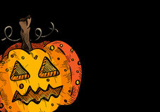 Happy Halloween old pumpkin face lantern illustration EPS10 file Stock Photography
