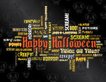 Happy halloween and other scary words Royalty Free Stock Photos