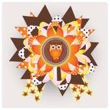 Happy halloween owl ribbon Royalty Free Stock Photo