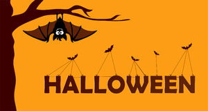 Happy halloween paper cut style. Concept of cemetery. Vector illustration Royalty Free Stock Photography