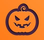 Happy Halloween paper pumpkin. Stock Photography