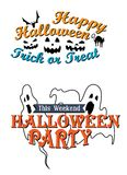 Happy Halloween party advertisement Stock Photography