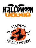 Happy halloween party advertisement Stock Photo