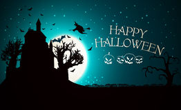 Happy Halloween Party Background. moon in the Stock Photography