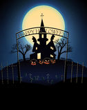 Happy Halloween Party Background. moon in the Stock Photos