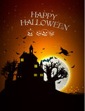 Happy Halloween Party Background. moon in the Stock Images