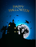 Happy Halloween Party Background. moon in the Royalty Free Stock Photography