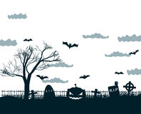 Happy Halloween Party Background. tree in the Stock Photography