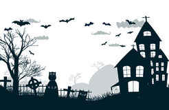 Happy Halloween Party Background. tree in the Royalty Free Stock Images