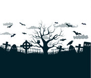 Happy Halloween Party Background. tree in the Stock Photo