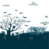 Happy Halloween Party Background. tree in the Royalty Free Stock Photo