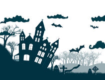 Happy Halloween Party Background. tree in the Royalty Free Stock Image