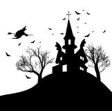Happy Halloween Party Background. tree in the Royalty Free Stock Photos