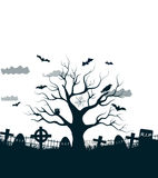 Happy Halloween Party Background. tree in the Royalty Free Stock Photography