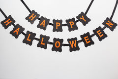 Happy halloween party black paper garland Royalty Free Stock Photography