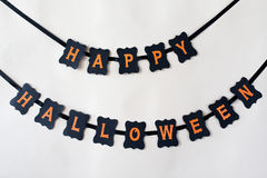 Happy halloween party black paper garland Royalty Free Stock Image