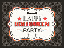Happy Halloween Party card. Typography letters Stock Image