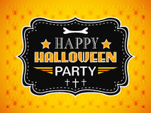 Happy Halloween Party card. Typography letters Stock Photo
