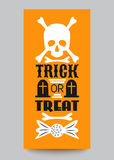 Happy Halloween Party card. Typography letters Royalty Free Stock Photo