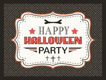 Happy Halloween Party card. Typography letters Royalty Free Stock Images