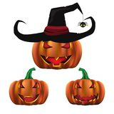 Happy Halloween party  concept with ghost pumpkin vector   Royalty Free Stock Images