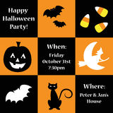 Happy Halloween Party Invite. Happy Halloween pumpkin party invite Royalty Free Stock Images
