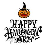 Happy Halloween Party lettering design Stock Image