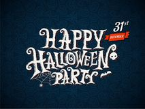Happy Halloween Party lettering Royalty Free Stock Photos