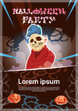 Happy Halloween Party Monster Night Poster Invitation Banner Card Stock Photo