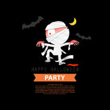 Happy Halloween Party mummy background design Stock Images