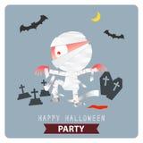 Happy Halloween Party mummy background design Stock Photo
