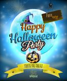 Happy Halloween party Poster. EPS 10. Vector file included Stock Photography