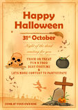 Happy Halloween party poster Stock Photos