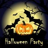 Happy halloween party poster Stock Photo