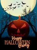 Happy Halloween Party poster Stock Image
