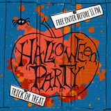 Happy Halloween Party Poster. Vector illustration. Stock Images
