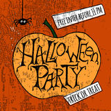 Happy Halloween Party Poster. Vector illustration. Royalty Free Stock Photo
