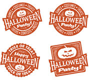 Happy Halloween Party Stamps Stock Photos