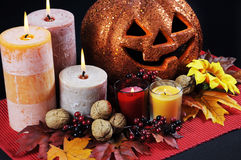 Happy Halloween party table centerpiece Royalty Free Stock Photos