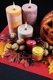 Happy Halloween party table centerpiece - vertical. Royalty Free Stock Images