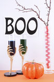 Happy Halloween party table Royalty Free Stock Image