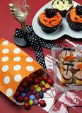Happy Halloween party table - vertical. Stock Images