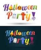 Happy Halloween party text design Stock Photo