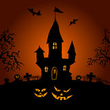 Happy Halloween party text design Royalty Free Stock Images